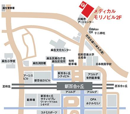 交通案内の地図画像
